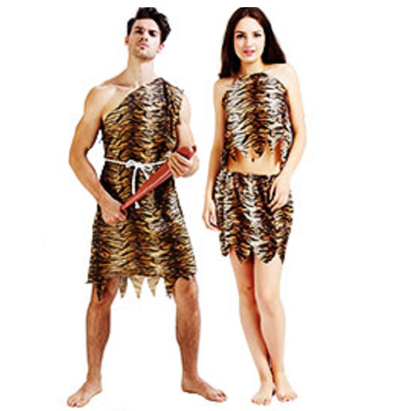 Leopard Savage Caveman Croods Flintstones Primitive Sexy Indian Clothing Costume -9670