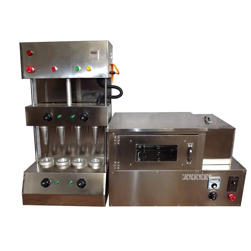 цена на Commercial Stainless Steel Automatic 4 Cone Pizza Cone Making Machine With Pizza Cone Oven Industrial Popular 220V/110V