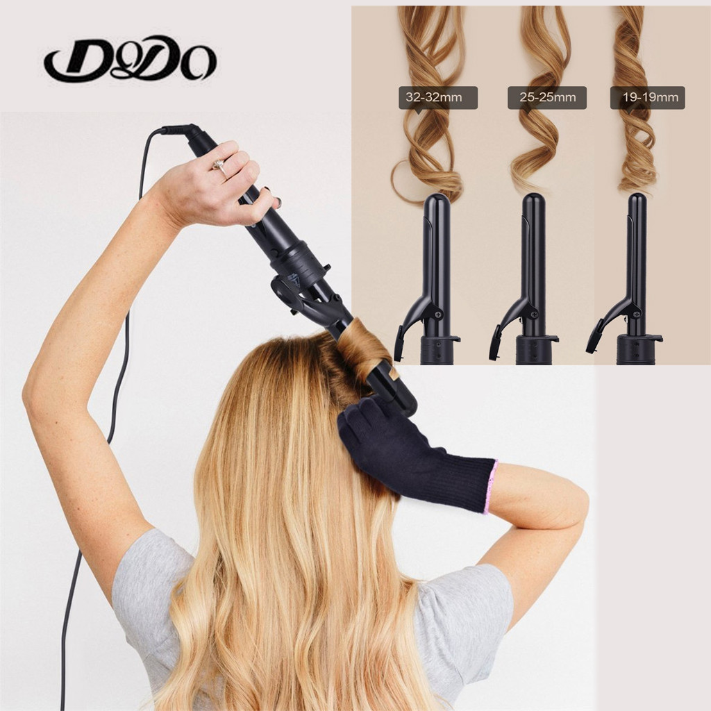 3 In 1 Hair Curlers Care Styling Curling Wand Interchangeable 3 Parts Clip Hair Iron Curler Set Curler Hair Styles Tool#Y3(China)
