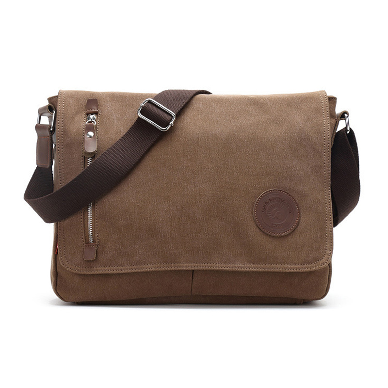2018 New High Quality Men Canvas Bag Casual Travel Men Business Crossbody Single Shoulder Bag Luxury Men Vintage Messenger Bags high quality canvas leather men postman bag wholesale messenger bag vintage canvas shoulder belt bags travel bags for men