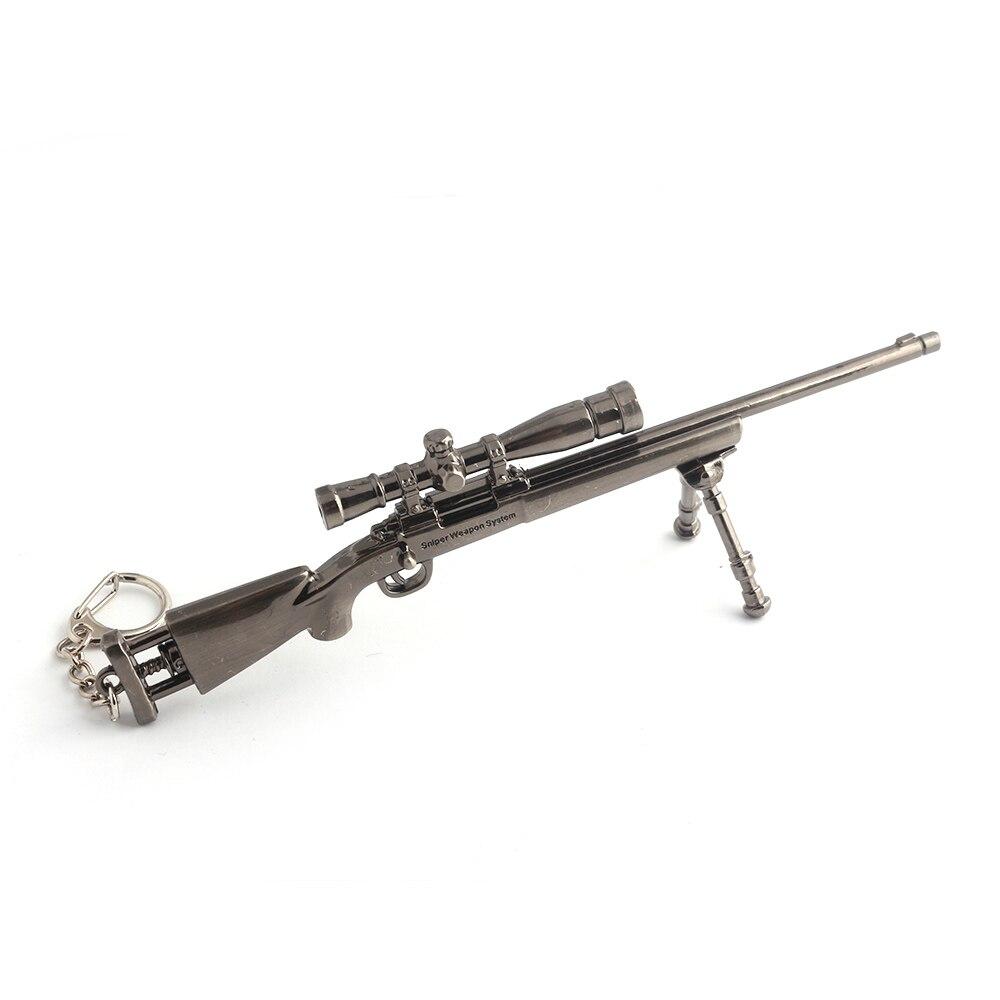 M2 Горячая игра PUBG оружие Модель брелок 3D снайперской винтовки психического брелок Прохладный Мужская автомобиля манипуляция Jewelry Прямая до... ...