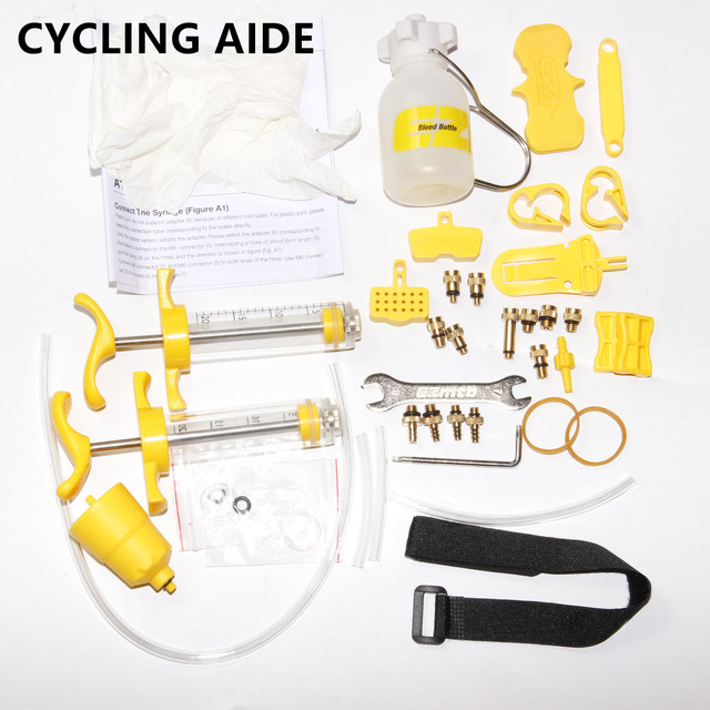 Bicycle Hydraulic Brake  Bleed Kit Tools for Mineral Oil For Tektro Shimano MAGURA  Hayes avid Hope Sram Bengal Formula