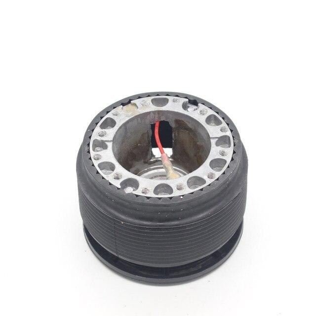 Dongzhen racing steering wheel hub kit adaptador de boss spacer negro volante de cuero momo omp coche cubre las carreras ajuste para mitsubishi