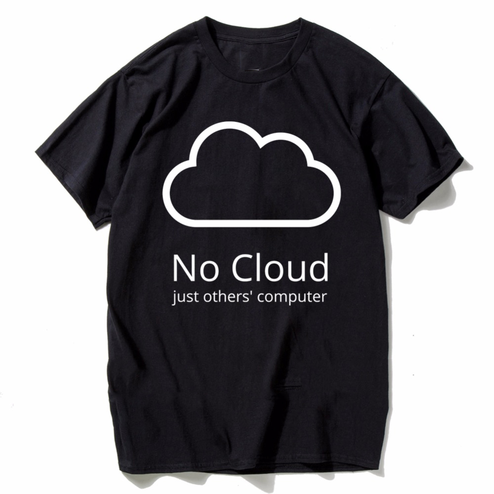 Computer Cloud T-shirts Creative Man Cotton Short Sleeve Summer Style Tee shirts New Casual Funny Geeks T shirts ...