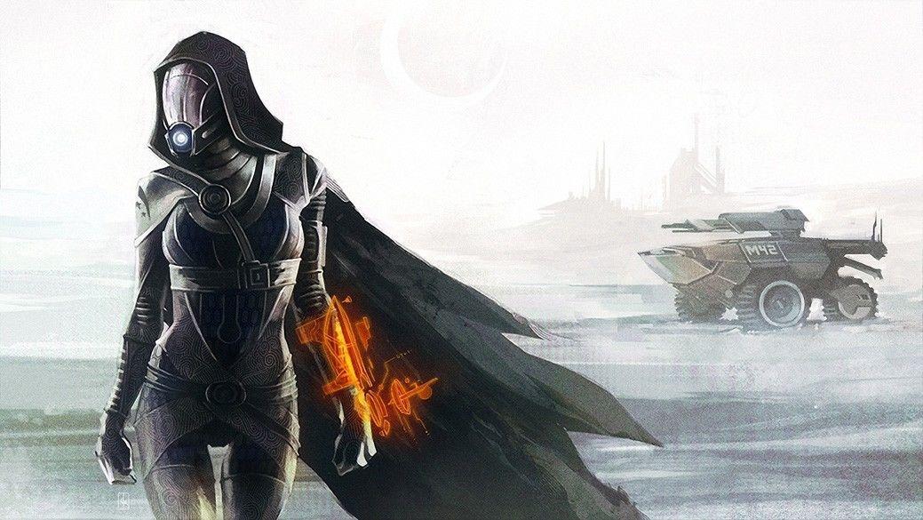 Mass Effect 3 4 Game Space War Fabric poster 24 x 13 Decor 137
