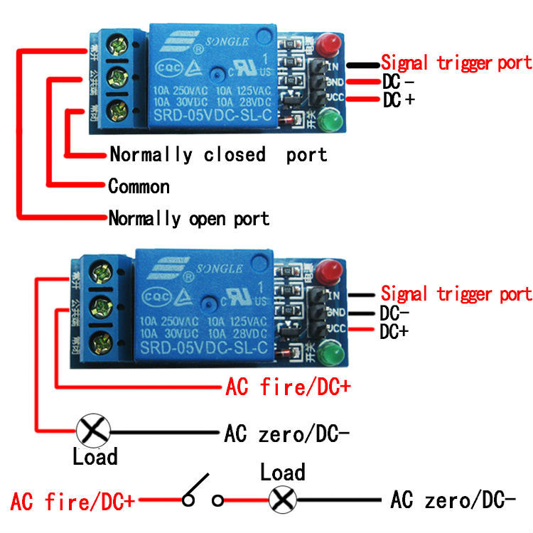 factory hot sell 12v 1 channel low level triger relay module for rh aliexpress com arduino 8 relay board wiring diagram arduino relay wiring diagram for vixen