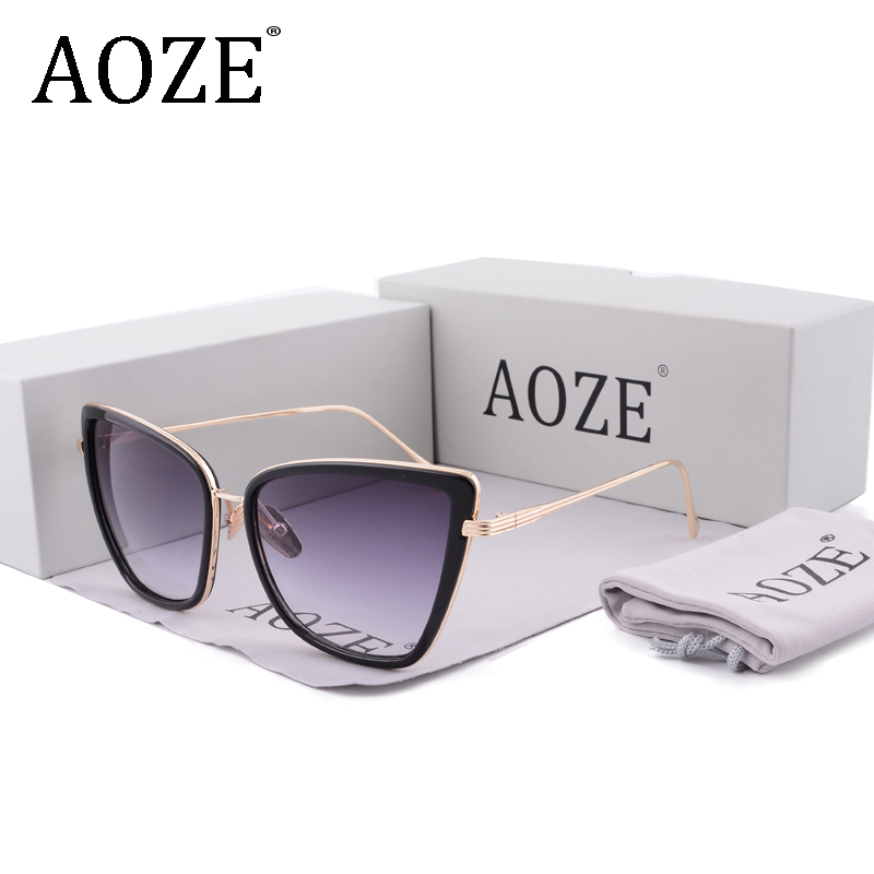 6972599660 Detail Feedback Questions about aoze New Brand women s designer Large frame  sunglasses Vintage steampunk women with case UV400 Female blue pink 1883 on  ...