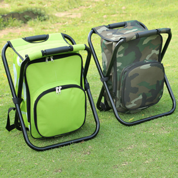 fishing cooler chair wicker chaise lounge 36x31x44cm multifunctional foldable bag backpack stool travelling picnic
