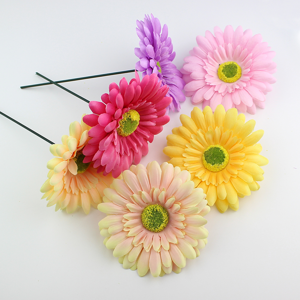 Huadodo Wholesale 10cm Silk Chrysanthemum Flower Heads Artificial
