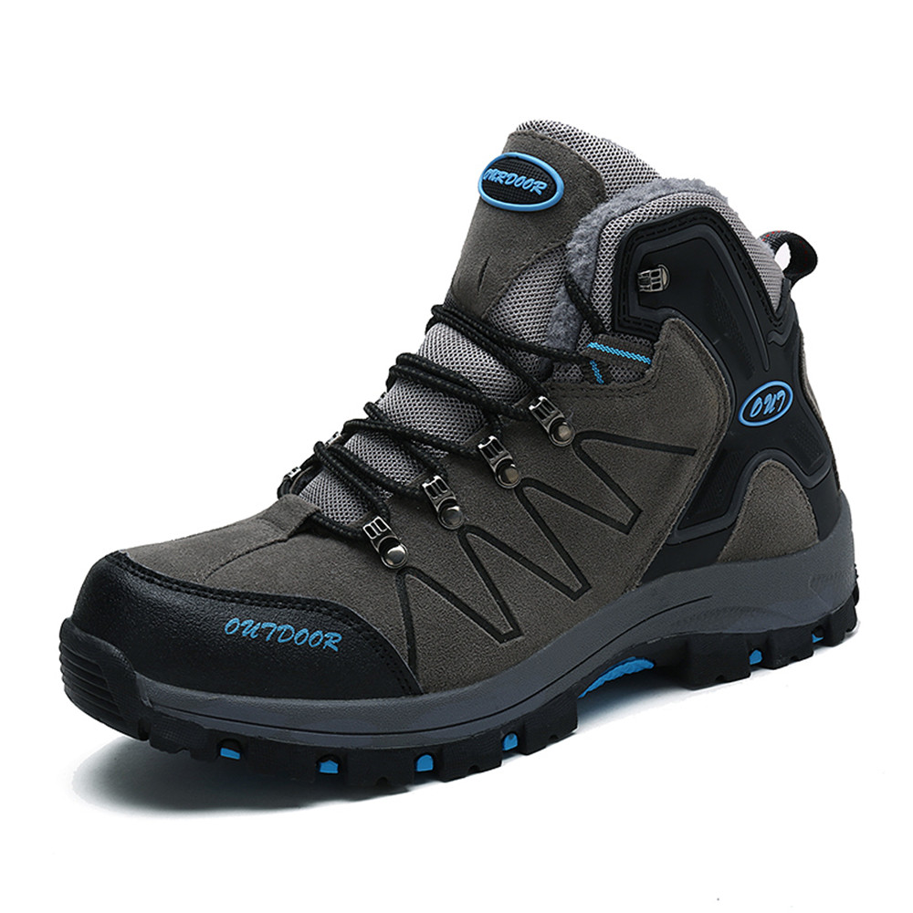New Winter Hiking Boots for Men Waterproof Man Sneakers Keep Warm Climbing Shoes Outdoor Wear Resistance Snow Shoes 10.5