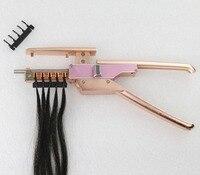 Верхние человеческие инструменты для наращивания волос cfiber устройство для наращивания волос virgin hair/remy hair connector эффективный и простой в испо