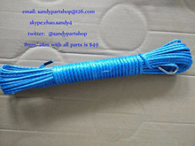 5mm*12m utv/atv winch line,synthetic rope,winch cable for car accessaries,small electric winch