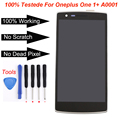 For Oneplus One 1+ A0001 LCD Display + touch screen with digitizer assembly + Bezel frame + Tools , black replacement part