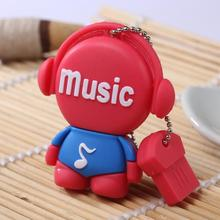 100pcs/lot music people USB2.0 U disk 4GB 8GB 16GB 32GB USB flash drvie Memory Stick Pen Drive disk on key usb drive ad gift usb