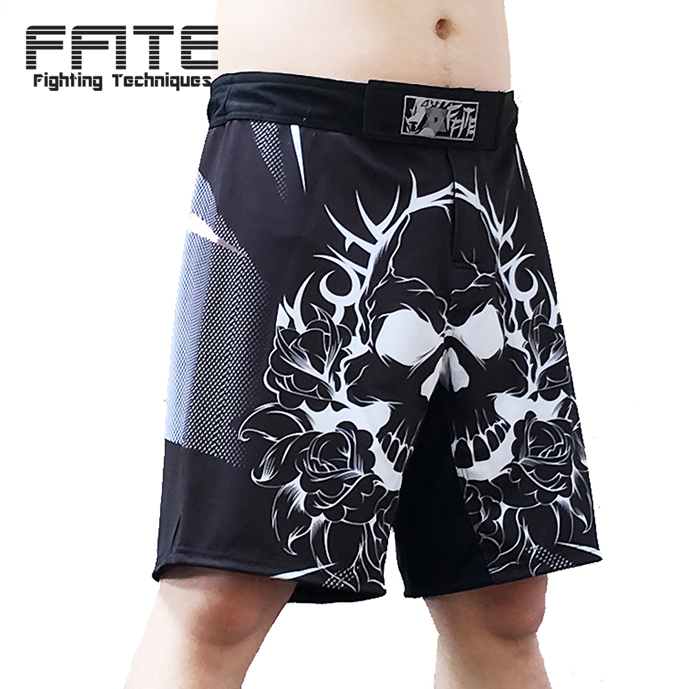 FFITE mma short men training shorts trunks muay thai boxe muay thai kickboxing sanda pants fight boxing cheap pattern shorts
