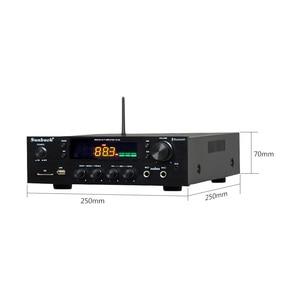 Image 2 - SUNBUCK 150W + 150W HiFi Senza Fili di Bluetooth Stereo Digitale Amplificatore di Karaoke Amplificatore Audio Home Theater di Sostegno USB/ carta di DEVIAZIONE STANDARD