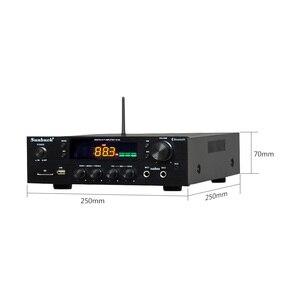 Image 2 - SUNBUCK 150W+150W HiFi Wireless Bluetooth Digital Stereo Amplifier Karaoke Home Theater Audio Amplifier Support USB / SD Card