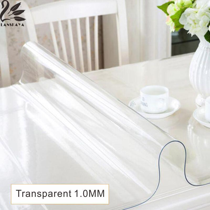 Lanskaya 2017 Rushed Real Modern Pvc Transparent Kitchen Table Cover Waterproof Oil Clot Soft Glass Tablecloth