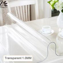 Lanskaya 2017 Rushed Echt Moderne Pvc Transparent Küchentisch Abdeckung Wasserdicht Öl Clot Weichglas Tischdecke Dicke 1,0 Mm