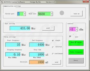 Image 4 - ADF4350/ADF4351 RF modülü süpürme frekans RF sinyal kaynağı geniş bantlı frekans sentezleyici 4.4G