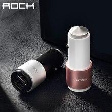ROCK Chargeur De Voiture 2 Ports Double 5 V 2.4A Bluetooth Smart Connection Musique FM Transmetteur Pour IOS Android moniteur de Tension prime