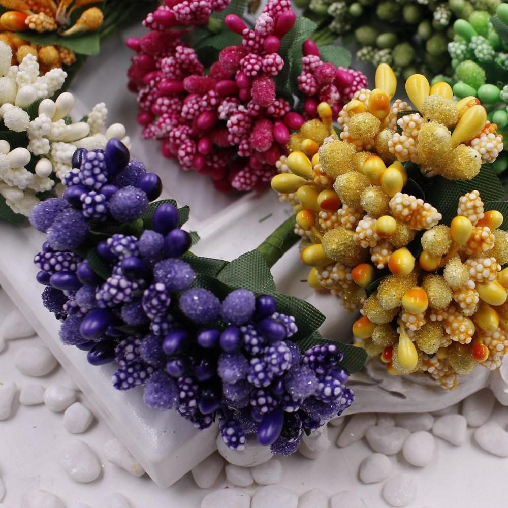 16 12pcs Berry Artificial Stamen Handmade Flower For Wedding Home Decoration Pistil DIY Scrapbooking Garland Craft Fake Flower 3
