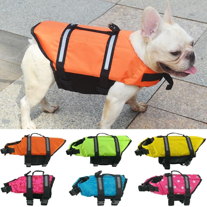 Summer Dog Life Vest Reflective Safety Dog Clothes Life Jacket Pet Swimming Clothing For Dogs Puppy French Bulldog Pug Swimwear
