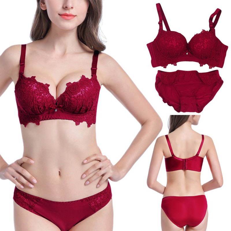 2019 New Style Sexy Women Front Closure Lace Push Up Seamless Underwire Bra Lingerie Size 32-36 S72 Bras Women's Intimates