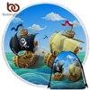 BeddingOutlet PirateBeach Round Towel With Drawstring Backpack Bag Cartoon Boat Nautical Ocean Bath Towel Picnic Mat Dropship 1