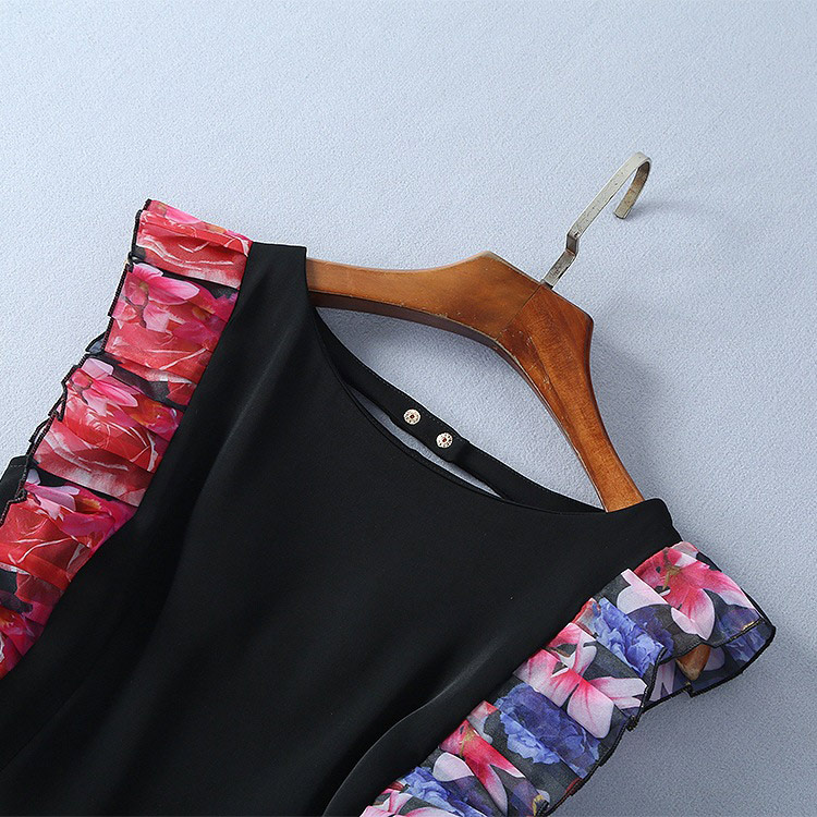 Ruché Noir Bouton Manches Femme Combinaisons Pantalon Fente Sexy Cou Évider Vente Closured Salopette Papillon Retour V Halter 8wSaq