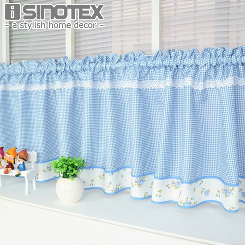 Fashion Cafe Embroidered Lace Decoration Curtains For The Kitchen 100%  Polyester Pastoral Style Small Cafe