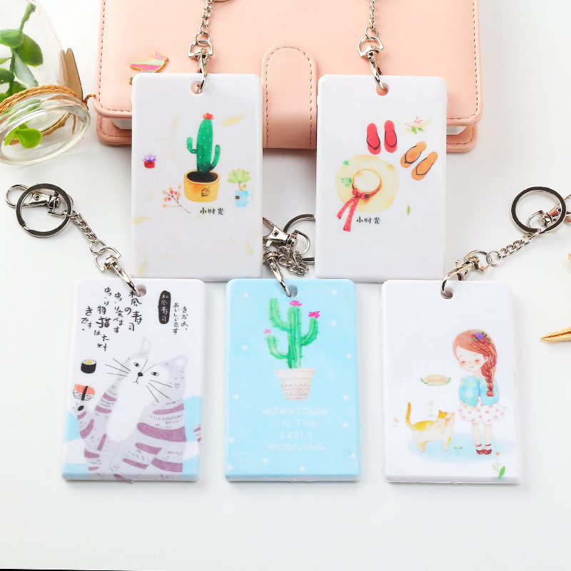 Card & Id Holders Pu Card Holder Credit Card Bus Card Case Hot Sale Cute Cartoon Panda Duck Monster Design Key Holder Ring Bag Accessories Kt5 Excellent In Cushion Effect