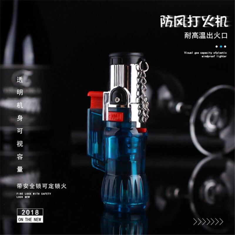 Outdoor Torch Lighter Compact Turbine Lighter Windproof Jet Butane Portable Spray Gun Cigar Pipe Lighter 1300 C Free Fire No Gas