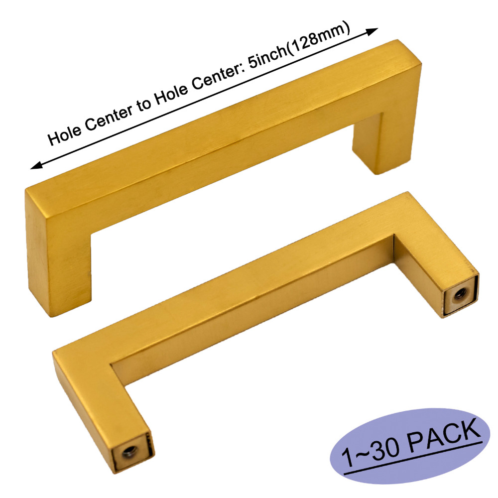 Adaptable Gouden Kast Handgrepen Roestvrij Keukenkast Hardware Kast Lade Trekt 5in Meubels Wijnkast Lade Trekt 1 ~ 30 Pak