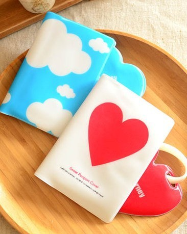 1 X Set Bag Case Holder True Love Heart white and red / Nice Weather Cloud Happy Flight white and blue