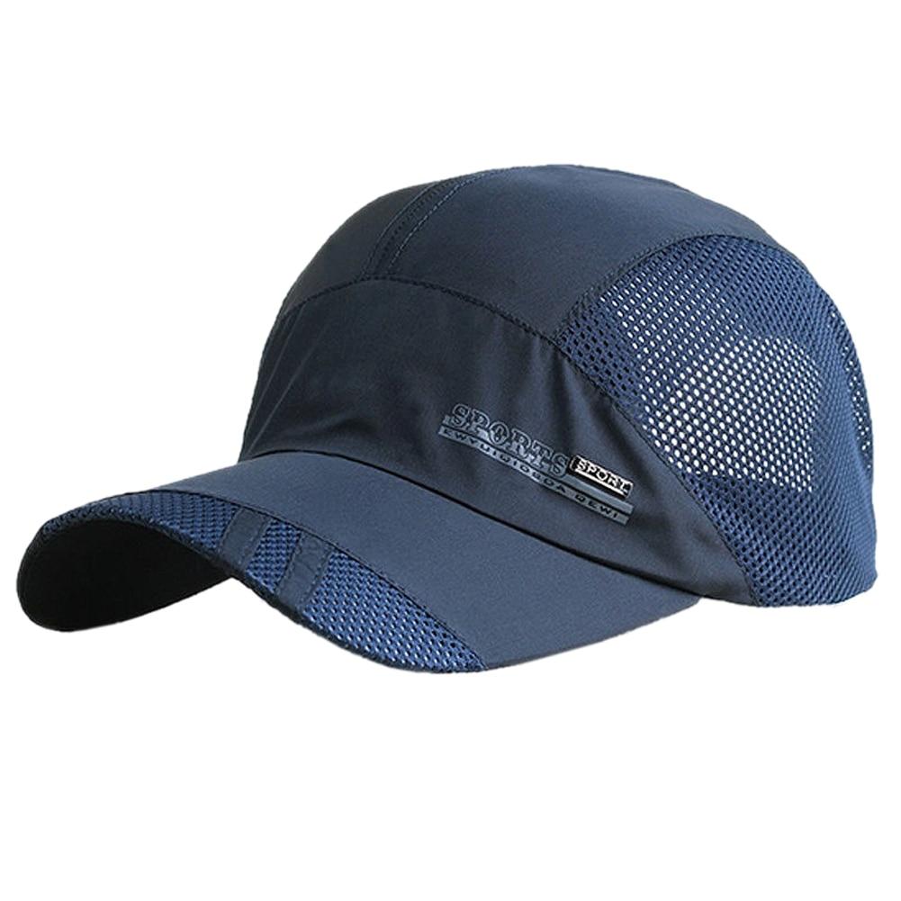 Новые модные мужские лето Открытый Спорт Бейсбол шляпа Бег козырек крышка белый