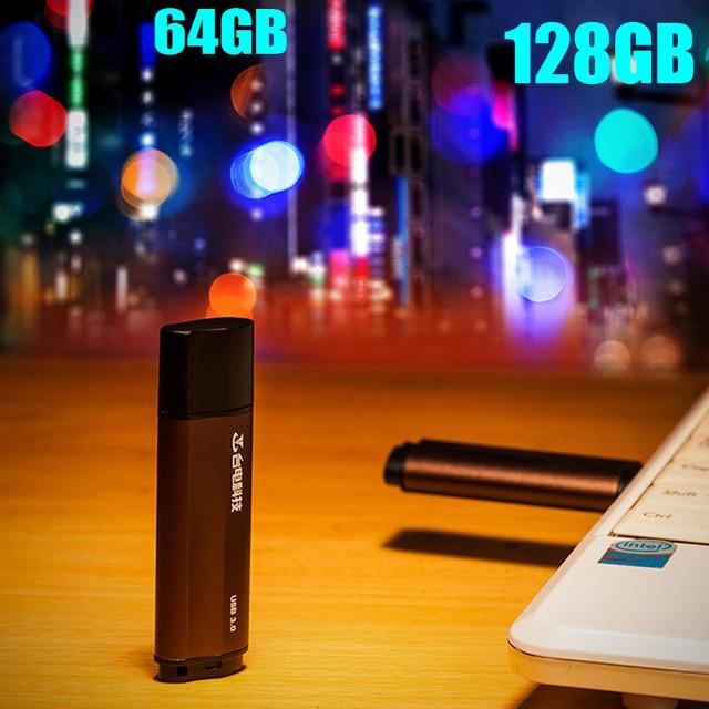 Teclast USB3.0 de Alta Velocidad USB Flash Drive de 128 GB 64 GB de Memoria palo de Metal Pen Drive Dispositivos de Almacenamiento Móvil de Estilo de Negocios U disco