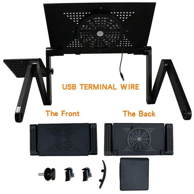 Supporto da tavolo per Laptop con Design ergonomico pieghevole regolabile supporto per Notebook per Ultrabook, Netbook o Tablet con tappetino per Mouse 2