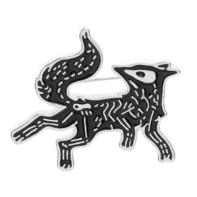 Kreatif Kartun Pribadi Anjing Paduan Bros Tas Aksesori Bros untuk Wanita Logam Lencana Kualitas Tinggi Kerah Pin Korsase Hadiah