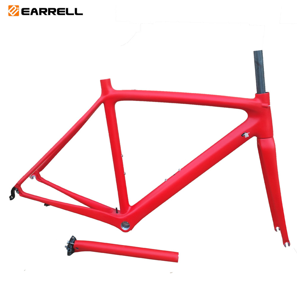 2018 New EARRELL T800 Carbon Road Bike Frame Cycling Bicycle Frameset Super Light 980g Di2/mechanical Racing Carbon Road Frame