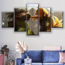 High Quality Canvas Print One Set Framework Or Unframed Wall Art Home Decor 5 Piece Anime Naruto Kakashi Hatake And Kyubi Poster