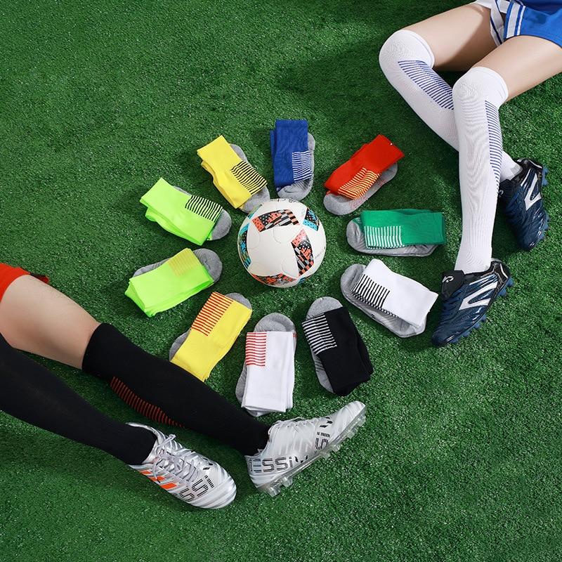 dfb269c3ab6 Football Socks Men Antiskid Sweat Absorbent Long Tube Sports Socks Towel  Bottom Adult Soccer Socks Over Knee High Long Stockings-in Soccer Socks  from Sports ...
