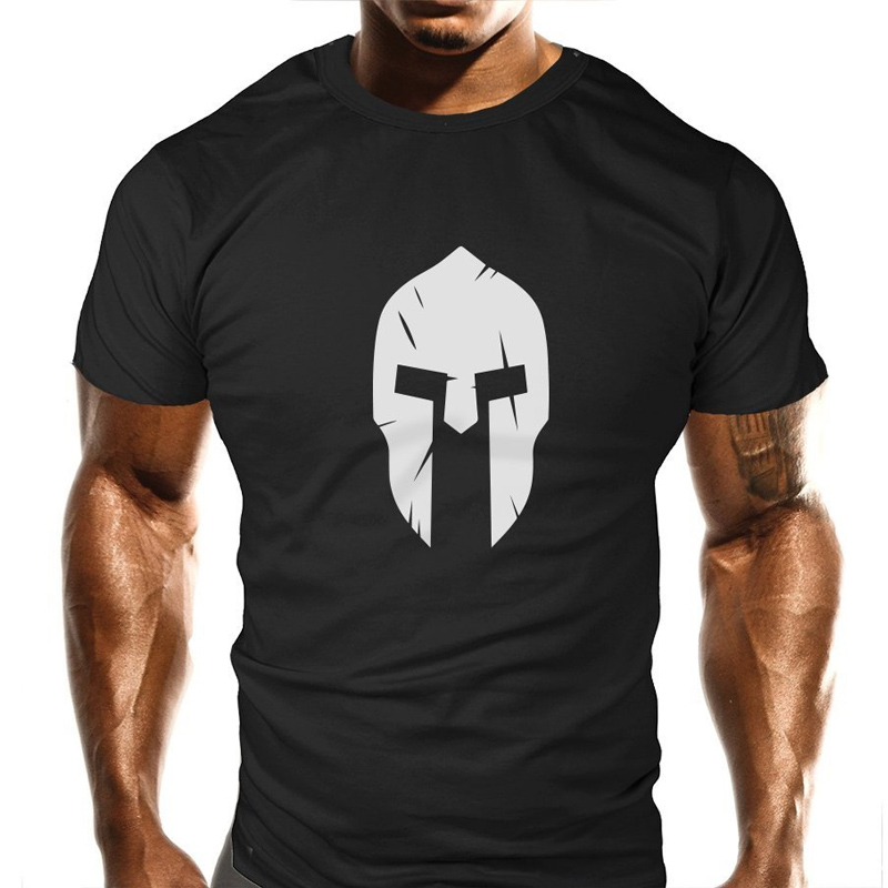 New Spartan   T  -  Shirt   Bodybuilding Casual Loose Fit Top Funny   T     Shirt   men 2018 new fashion male brand tops clothing