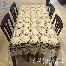 2017 China best selling 100% natural cotton crochet table cover for wedding decoration as innovative household item tablecloth