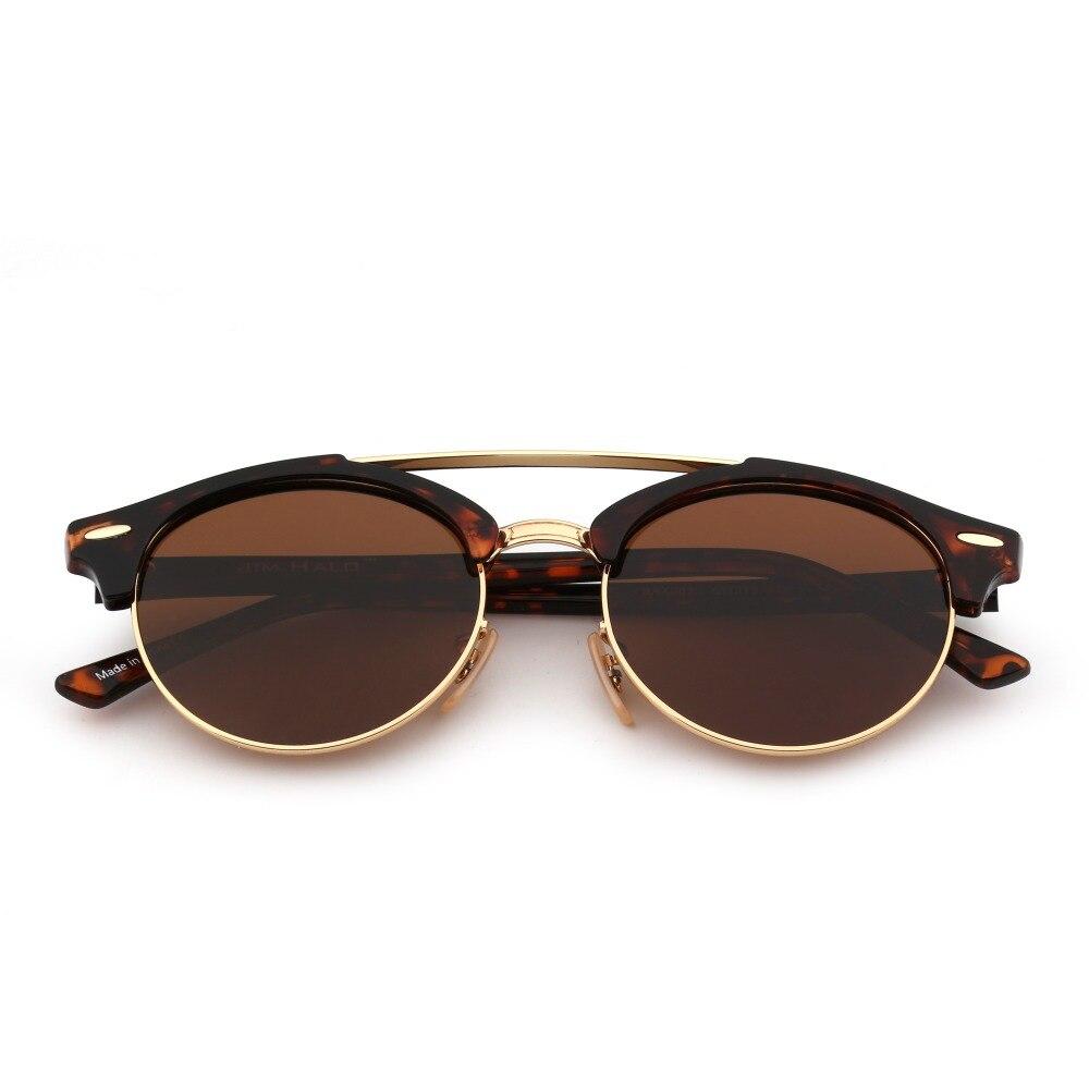 e7dd2e736cb0 Jim Halo Retro Polarized Mirrored Tinted Round Sunglasses Circle Lens Men  Women Vintage Sun Glasses Fashion UV400 Oculos-in Sunglasses from Apparel  ...