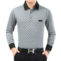 Новый Бизнес Для мужчин Мужские Поло рубашка Повседневное плюс Размеры 3XL длинный рукав рубашка Для мужчин Мужские поло Homme с длинным рукаво...