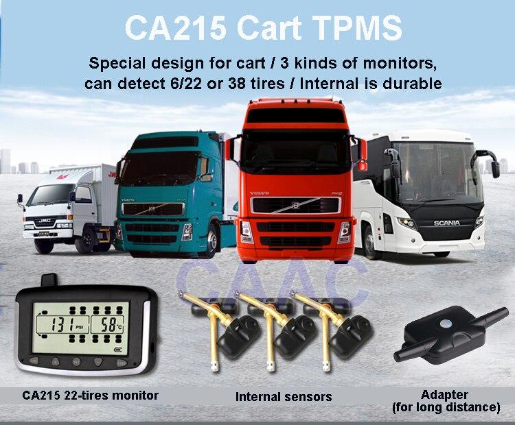 TPMS Système de Surveillance de Pression Des Pneus pour Camion avec 6 pcs Interne Capteurs Haute Basse Pression Température Alerte Alarme De Fuite Rapide