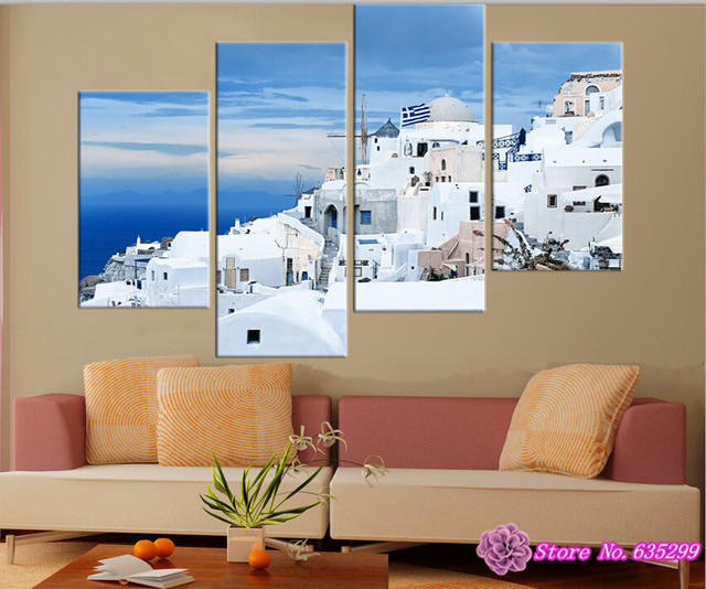 4 pieces canvas wall art picture painting decoration home canvas ...