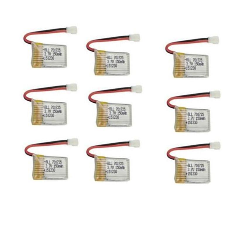 BLL 9 pcs D'origine RC Partie H8 Mini 150 mAh Lipo Batterie 3.7 V pour RC H8 Mini Quadcopter