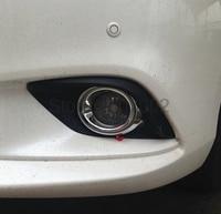 For Mazda6 Mazda 6 2013 2014 2015 Abs Chrome Front Fog Lamp Light Cover Trim 2pcs